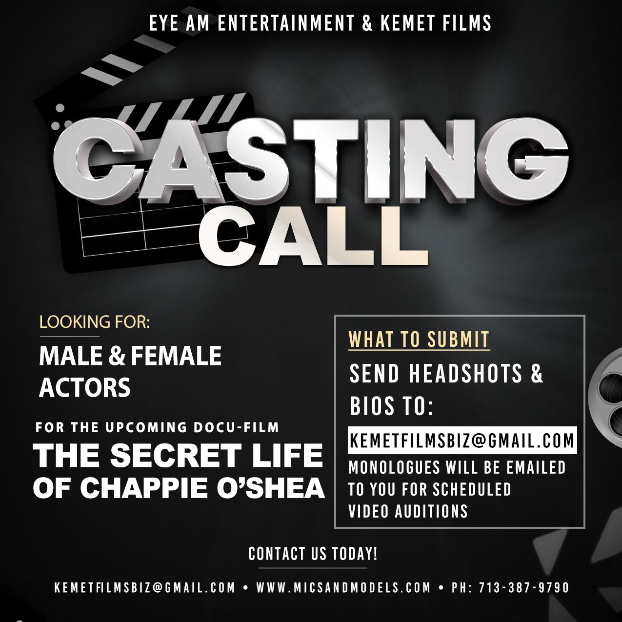 THE SECRET LIFE OF CHAPPIE O'SHEA - Cast