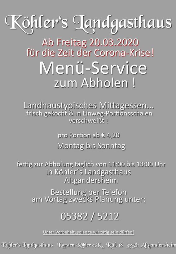 Menü Service