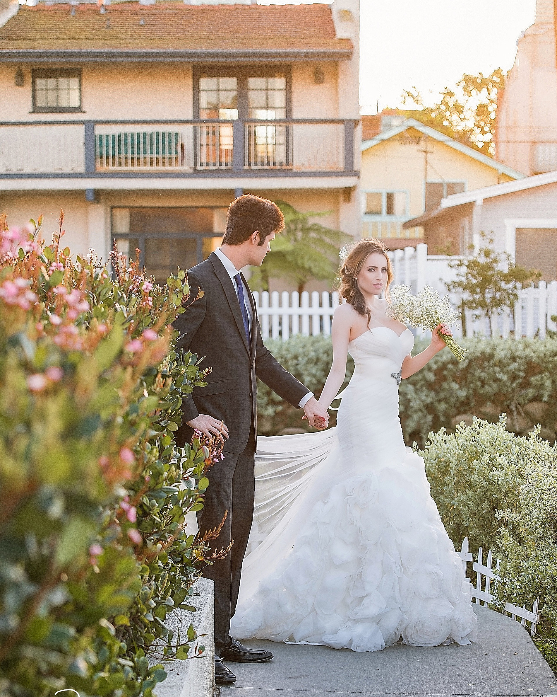 lz bridal rose mermaid wedding dress
