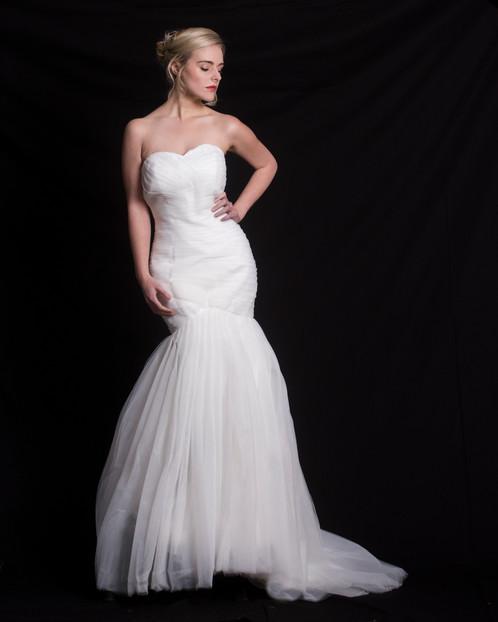 plain tulle mermaid wedding gown   lz bridal designer wedding dress ...