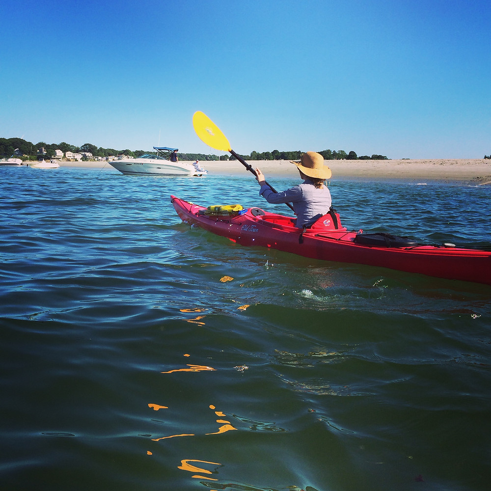 Newburyport acupuncturist kayaking in Gloucester