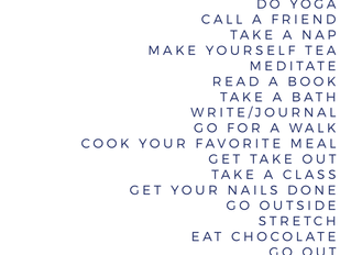Self Care Suggestions - From an Acupuncturist