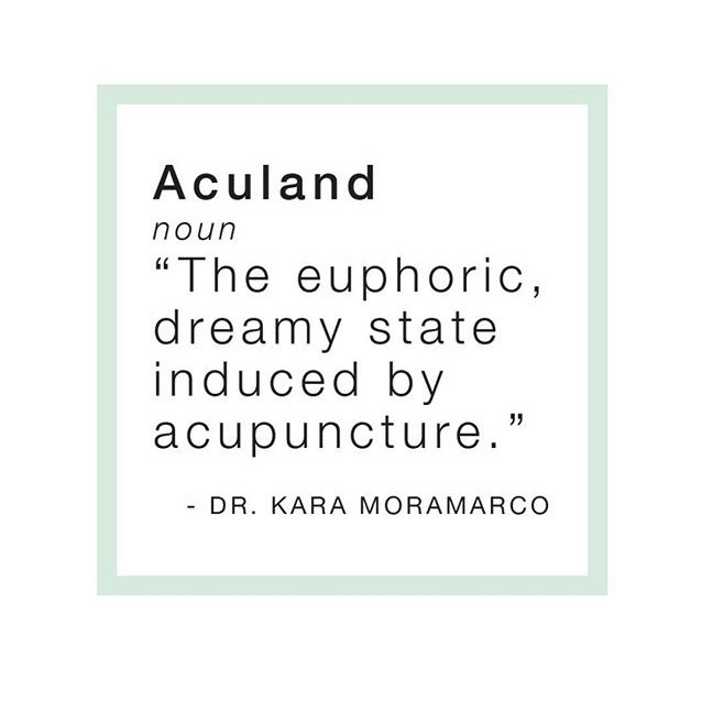 """The euphoric, dreamy state induced by acupuncture."" - Dr. Kara Moramarco"