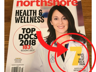 North Shore Magazine recommends Acupuncture for back pain
