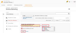 Ajouter des autorisations pour - Google Analytics