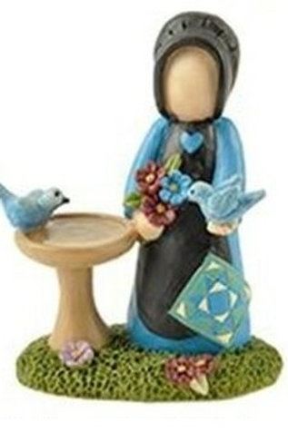 Lady with Blue Birds