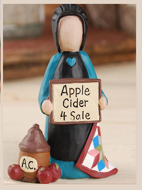 Amish Lady with Apple Cider 4 Sale