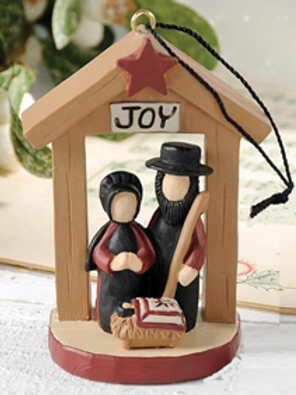 Amish Nativity Ornament - approx. 3""