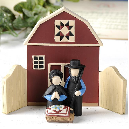 Two Piece Amish Nativity Set
