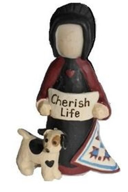 Zeppy the Dog  (Artist designed this figurine after her faithful dog)