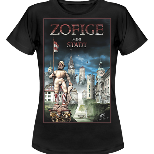 Bedrucktes Damen-T-Shirt mit dem «Zofiger Design»