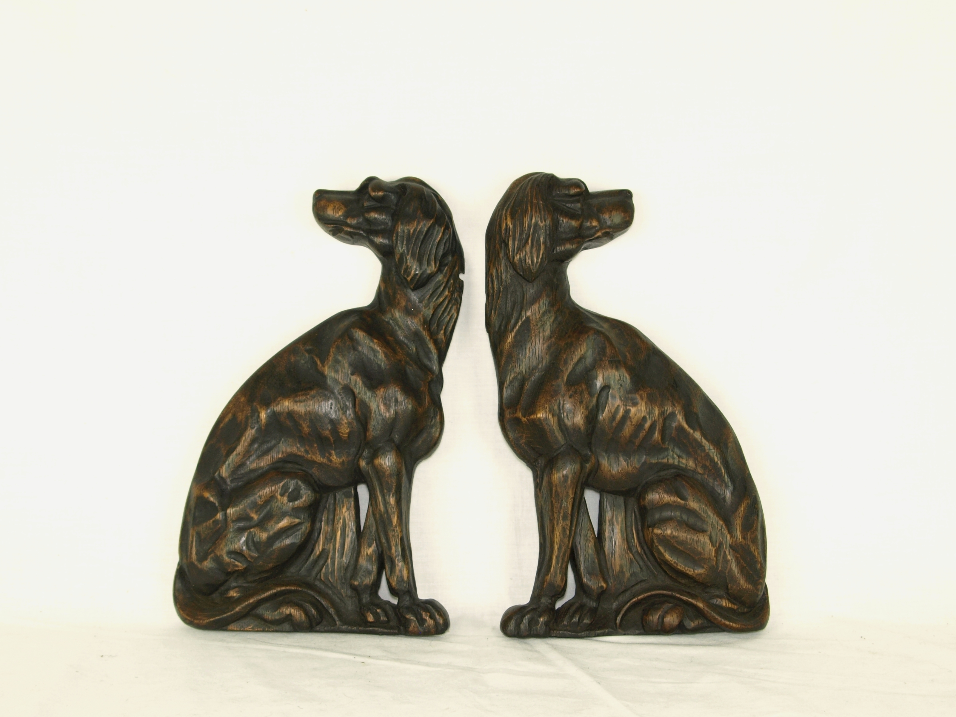 ARMORIAL HOUND CARVINGS
