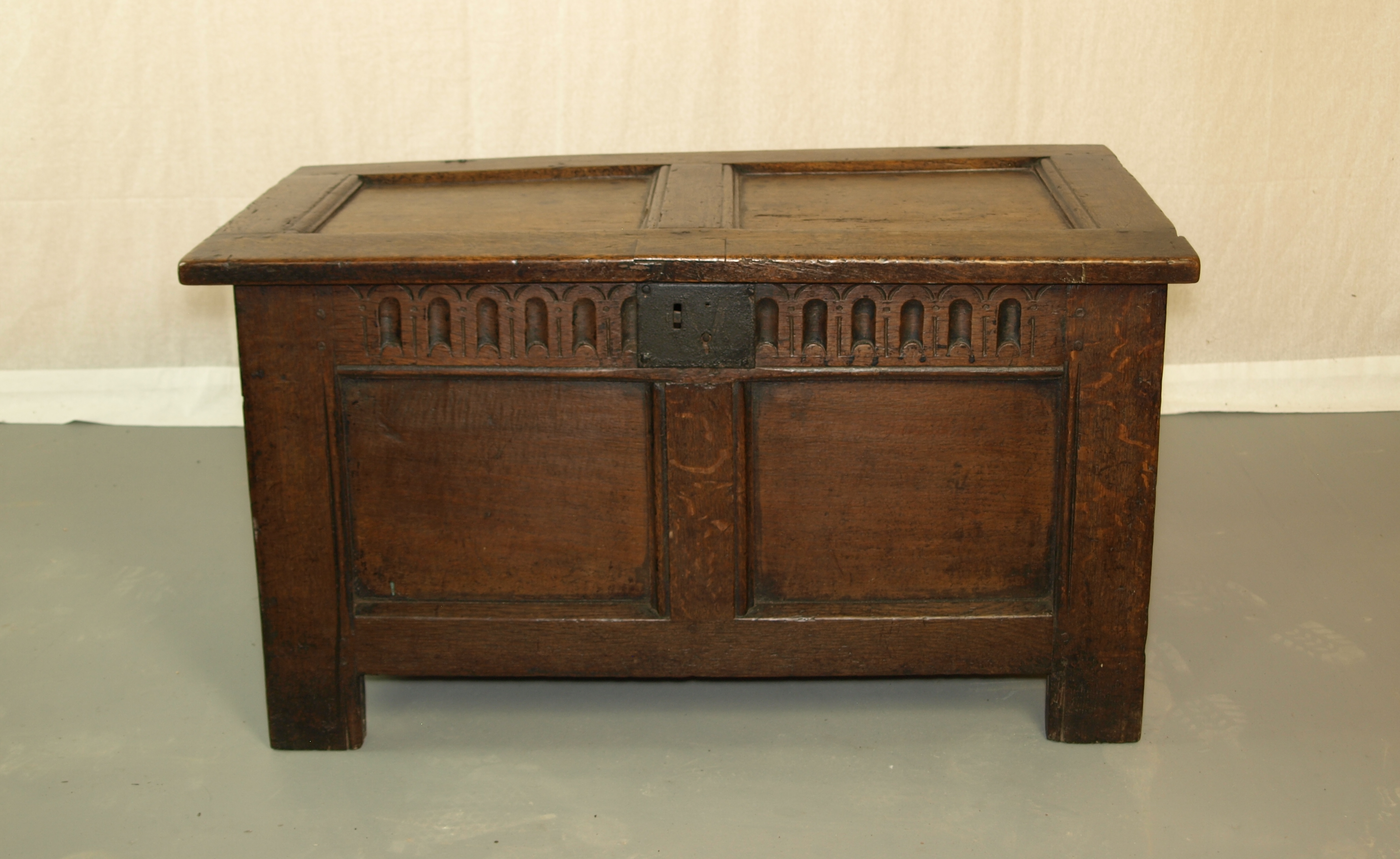Small Panelled oak coffer