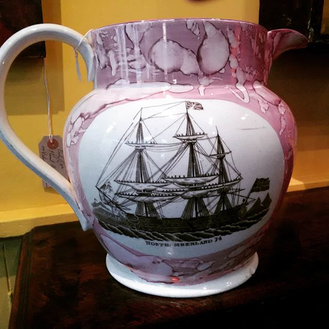 Sunderland lustre jug with picture of th