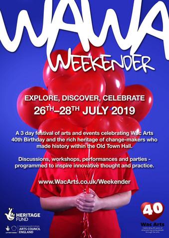 Wac Arts Weekender Poster