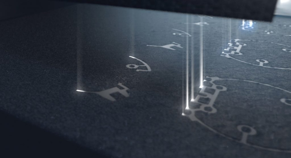 Powder exposure on the LaserProFusion. Photo via EOS