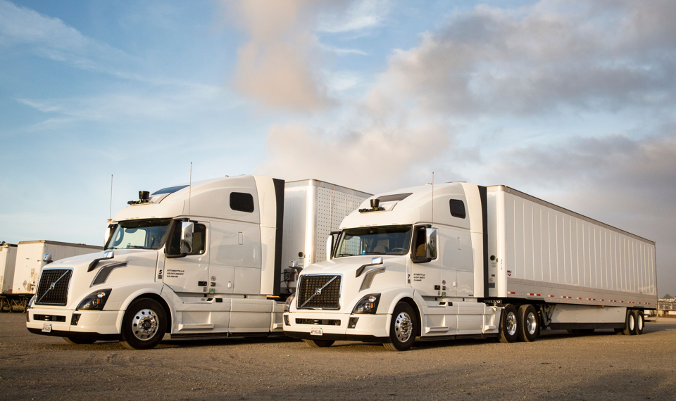 White tractor-trailers