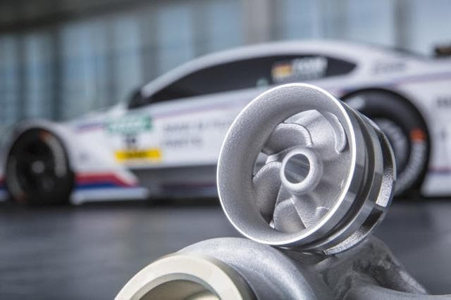A 3D-printed water pump wheel for use in a DTM racecar. (Image courtesy of the BMW Group.)