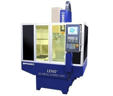 The Optomec LENS Machine Tool Series integrates Optomec's industry-proven, metal 3D printing technology into standard CNC machine tool platforms providing lower-cost, higher-value metal additive manufacturing and hybrid solutions. Image: Business WIre
