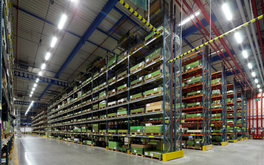 A spare parts warehouse, which Electolux looks to replace using 3D printing. Photo via Spare Parts 3D.