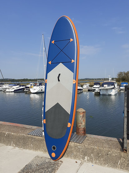 10' Blue & Orange Stand Up Paddle Board Set