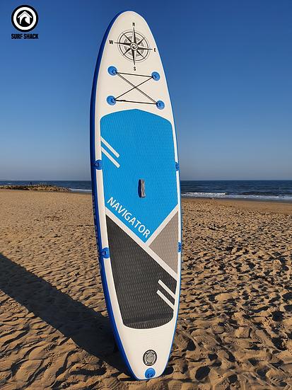 10' Surf Shack Blue Navigator Inflatable Stand Up Paddle Board Set