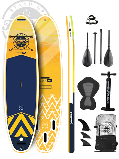"""10'6"""" Fatstick Pure Art Ocean Air Inflatable Stand Up Paddle Board Set"""