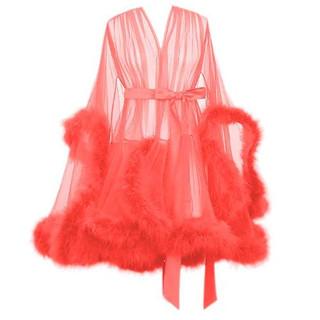 Pearl Davies Client Wardrobe: Custom Gown in Peach Short