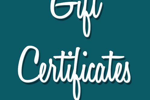 Pearl Davies Photography Gift Certificates