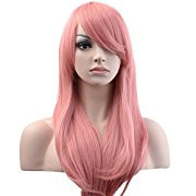 Pearl Davies Client Wardrobe: Long Pink straight wig