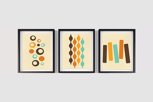 70's Swag Series Prints: Set of 3
