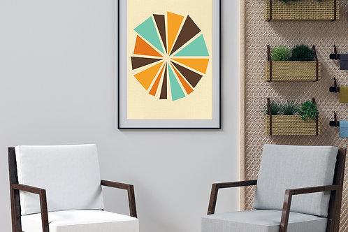 70's Swag Series Print: Pinwheel