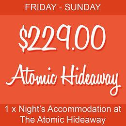 1 x Night Stay: Atomic Hideaway