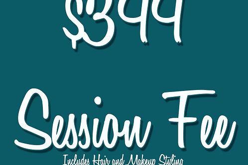 SESSION FEE including Hair & Makeup Styling
