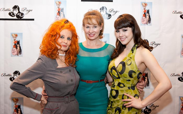 Tempest Storm with Tatyana and 2011 Playmate of the Year Claire Sinclair