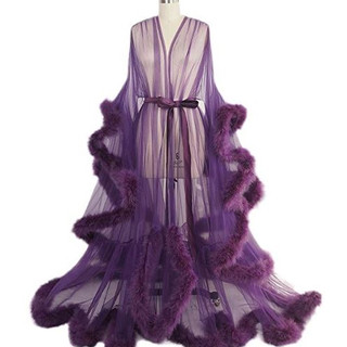 Pearl Davies Client Wardrobe: Custom Gown in Purple Long
