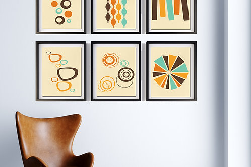 70's Swag Series Print: Set of 6