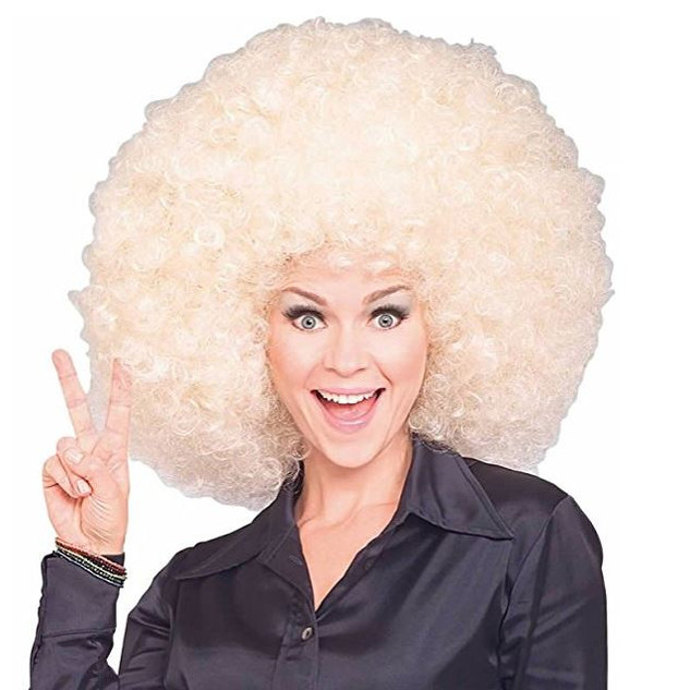 Pearl Davies Client Wardrobe: Blonde Afro Wig