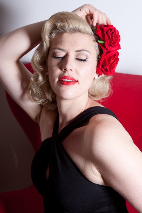 Scarlet Soda © Pearl Davies Vintage Pinup and Boudoir Photography Newcastle NSW Australia