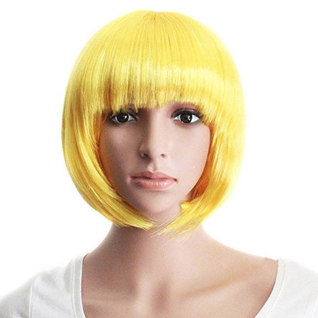 Pearl Davies Client Wardrobe: Short yellow crop wig
