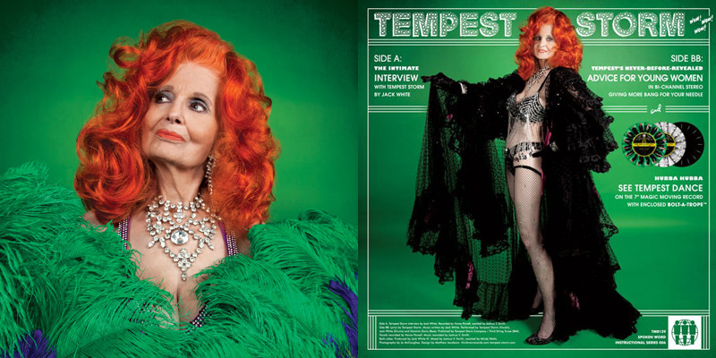 Tempest Storm - Vinyl cover - Interviewed by Jack White