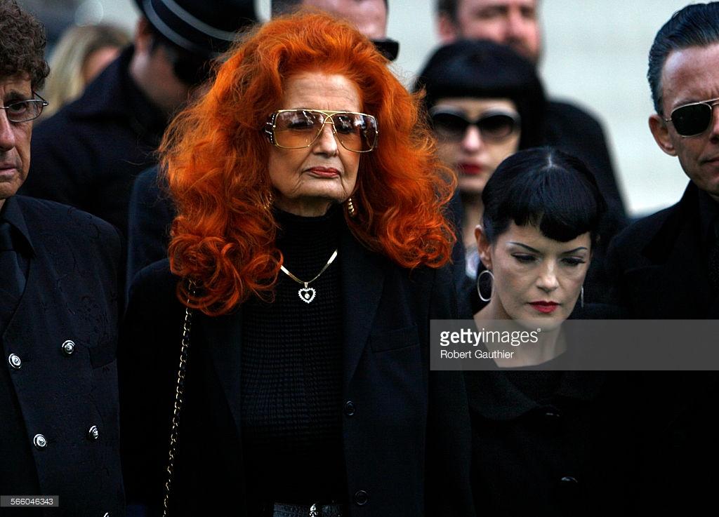 Bettie Page Funeral w' Bernie Dexter
