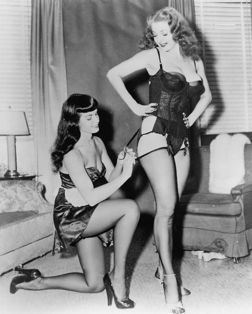 Bettie Page and Tempest Storm in film 'Teaserama'