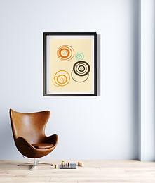70's Swag Series Print: Atomic Planets