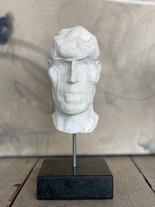 Miniature clay-cast plaster head #4