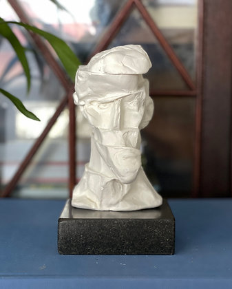 Miniature clay-cast plaster head #5