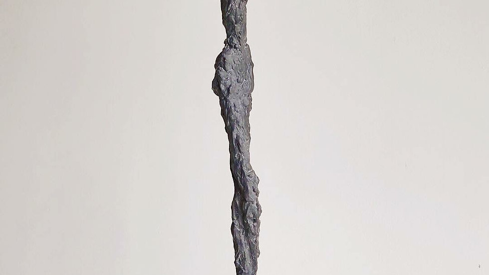 "30"" charcoal plaster figure"