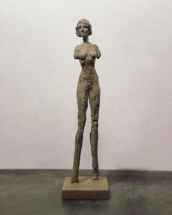 """18"""" painted plaster figure"""