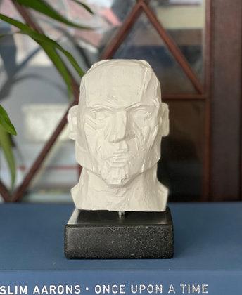 Miniature clay-cast plaster head #2