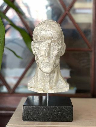 Miniature clay-cast plaster head (Experimental) #1